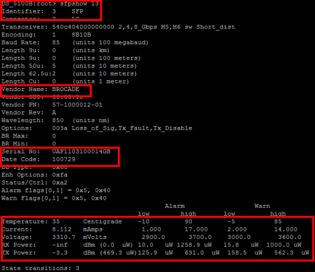 Cisco CLI — Show Interface Transceiver Details